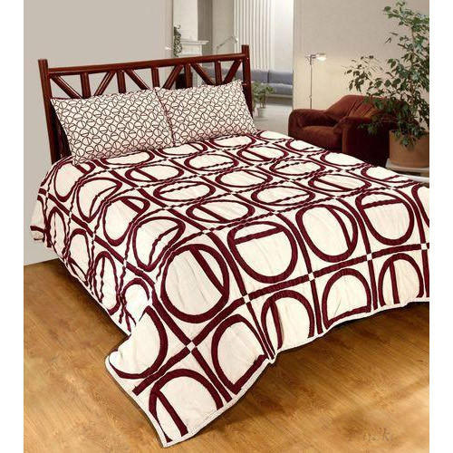 Abstract Print Quilted Bed Cover Set