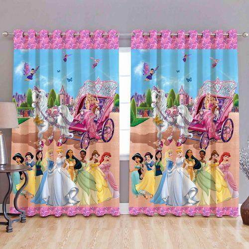 Disney Princess Print Curtains