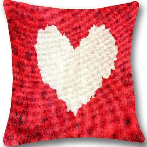 Heart Print Cushion Covers