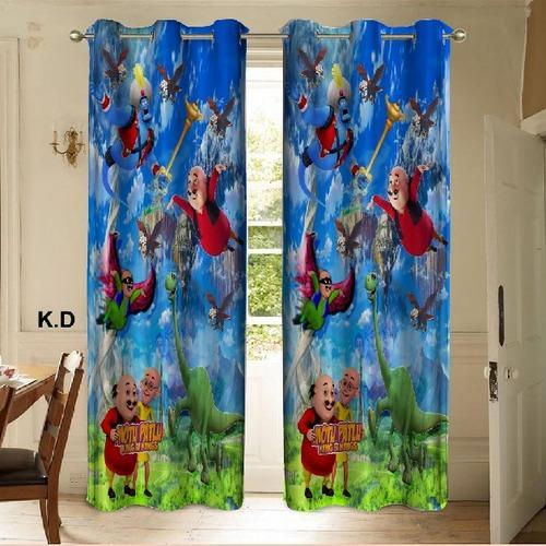 Motu Patlu Print Curtains