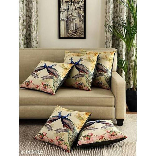 Peacock Print Cushion Covers