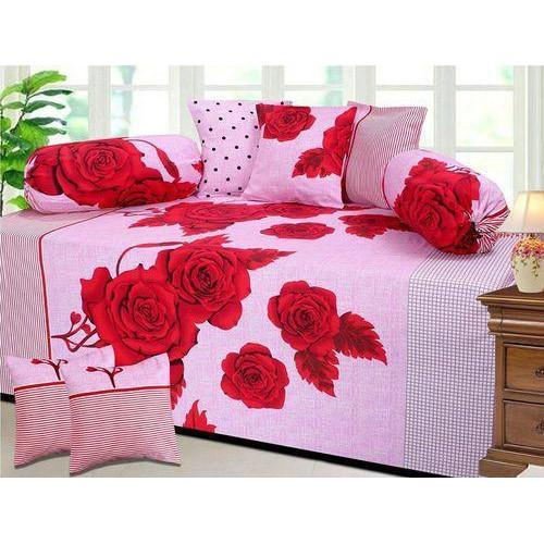 Rose Print Diwan Bed Sheet Set 01