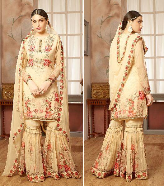 Ladies Embroidered Sharara