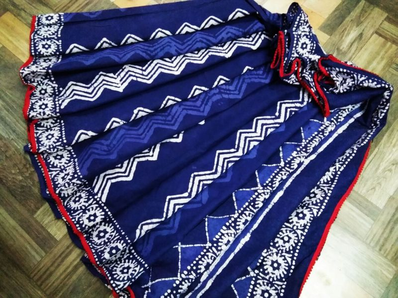 Malmal Cotton Pom-Pom Saree 02