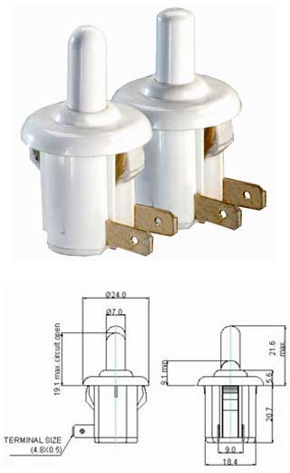 Refrigerator Door Switches