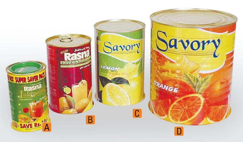 Fruit Concentrate Cans