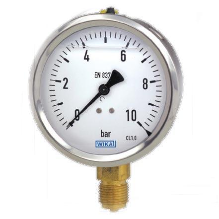 Hydraulic Bourdon Tube Pressure Gauges