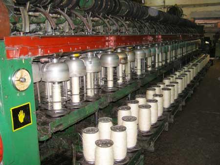 Spinning yarn machine