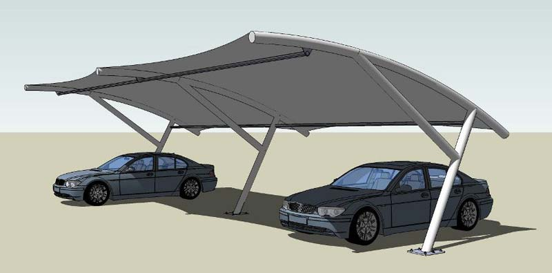 Car Parking Tensile Structure 03