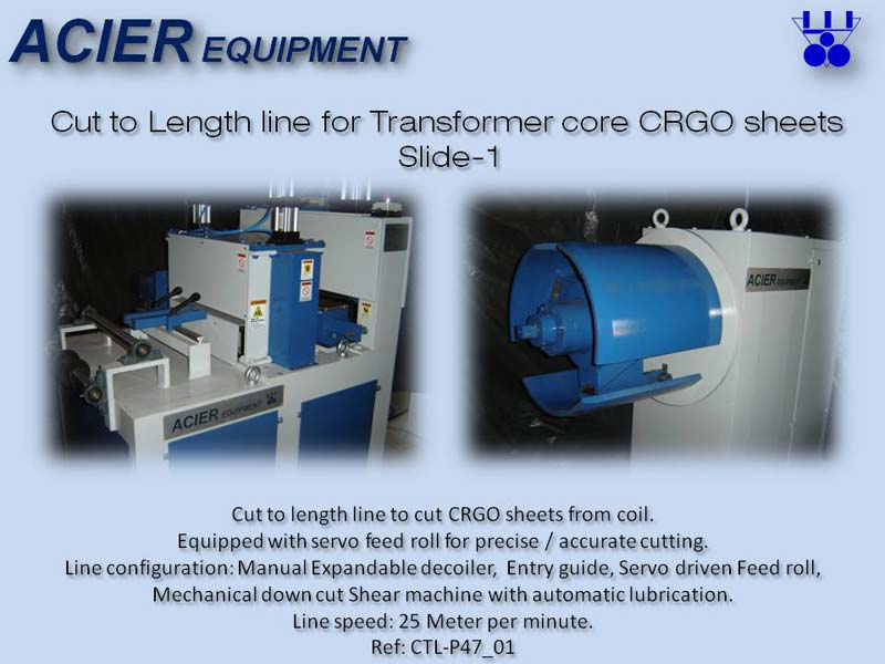 Cut To Length Line Machine For CRGO Steel Sheet