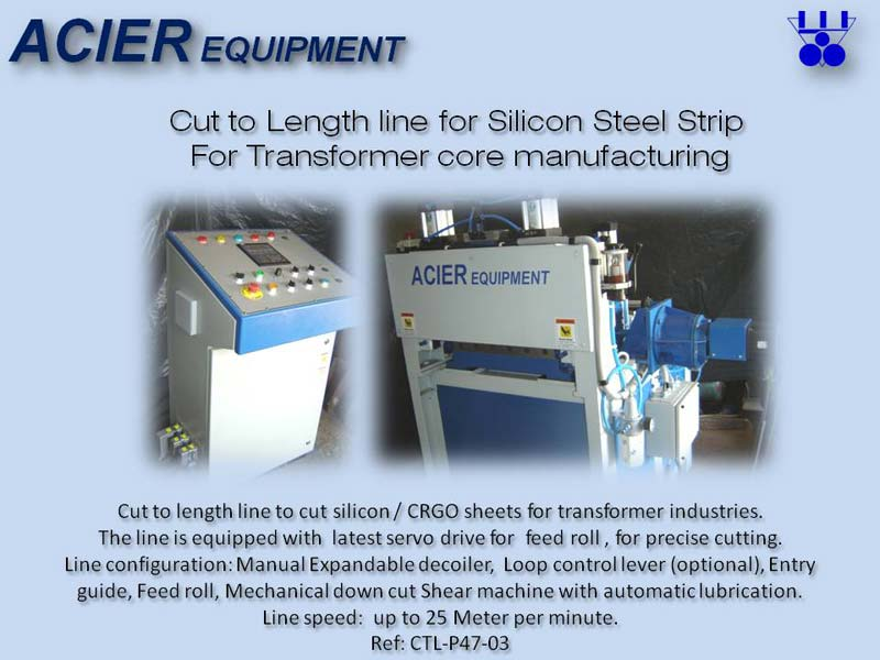Cut To Length Line Machine For Silicon Steel Strips