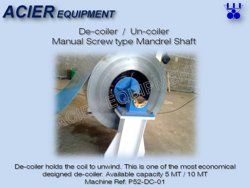 Manual Screw Type Decoiler