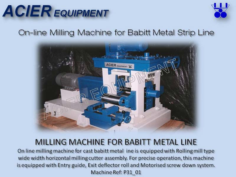 Milling Machine For Babbitt Metal