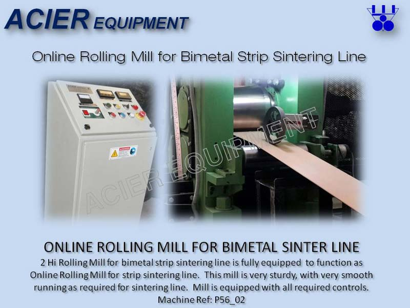 Online Rolling Mill For Bimetal Strip Sintering Line