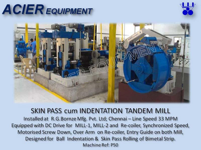 Skin Pass Tandem Rolling Mill For Sintered Bimetal Strip