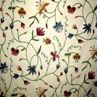 Butterfly Crewel Curtain Fabric