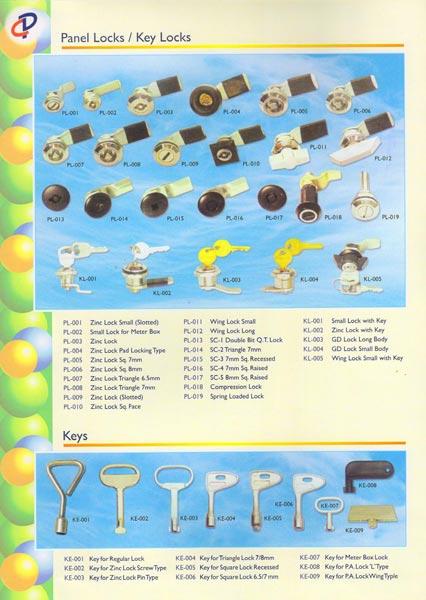 Zinc Lock Keys