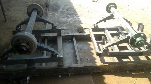4 Wheel Trolley Axle Fitting