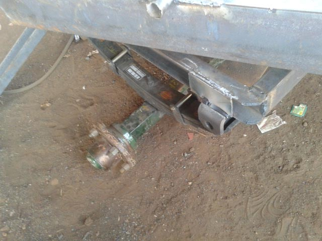Genset Trolley Axle View