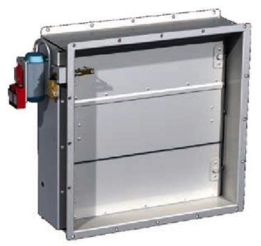 Aluminium dampers motorized volume control damper volume for Motorized smoke fire damper