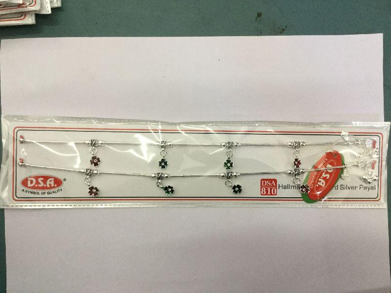 810 Hallmark Silver Anklet 01