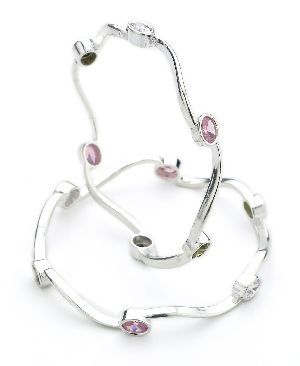 Ladies Silver Bangle 02