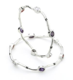 Ladies Silver Bangle 03
