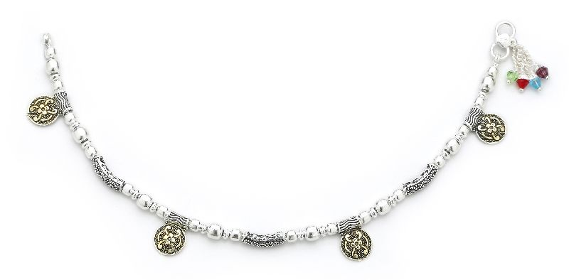 Silver Ball Anklets