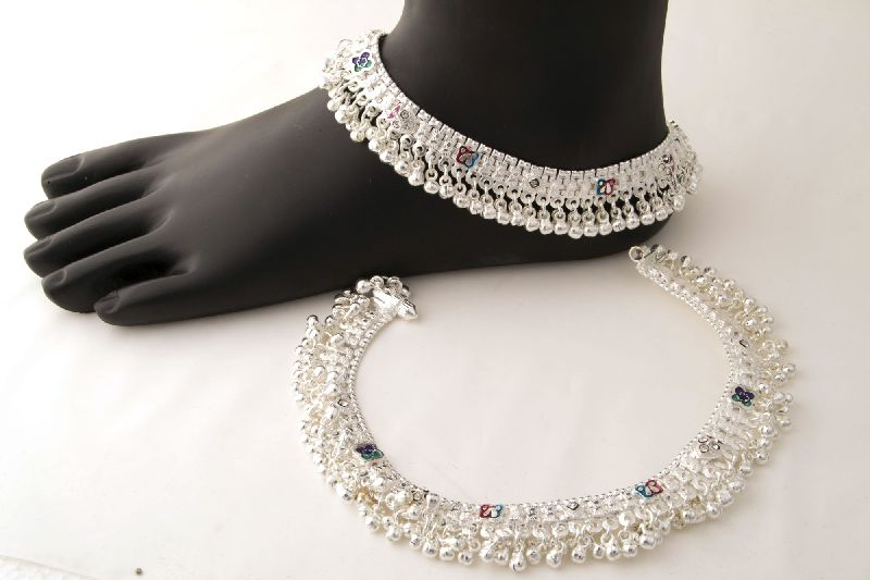 Silver Ghungroo Anklet 01