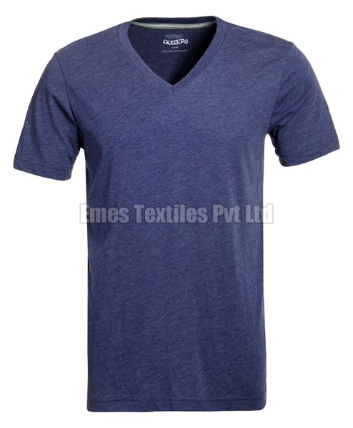 Mens V Neck Half Sleeve T-Shirts