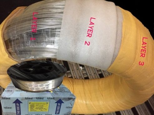 Coil - Exhibiting Multi - Layered HDPE Fabric Strapped with BOPP Tape