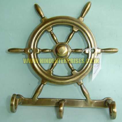 Brass Wheel Hanger