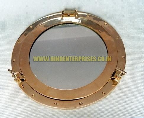 Brass Porthole Mirror HE 18001