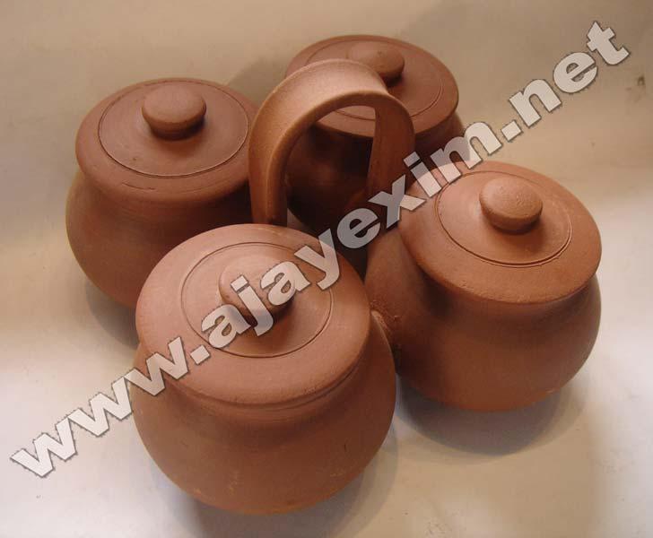 Clay Condiment set