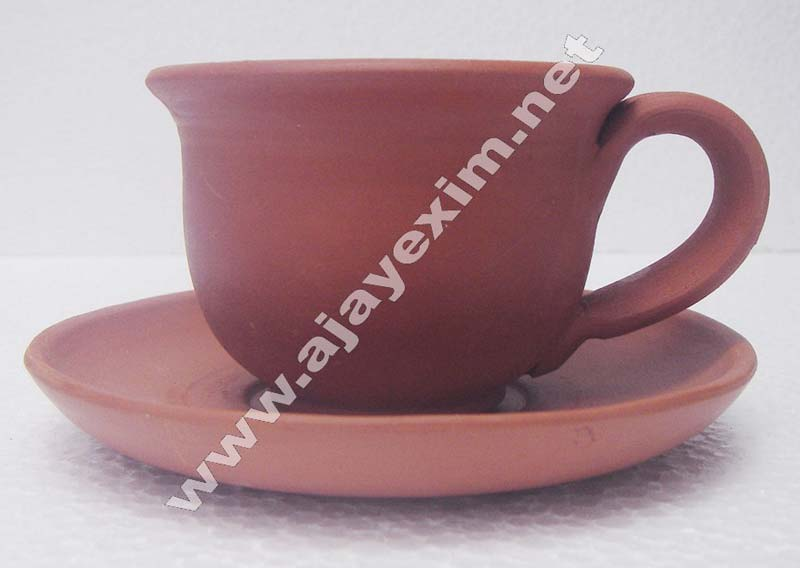 Clay Cup& Saucer