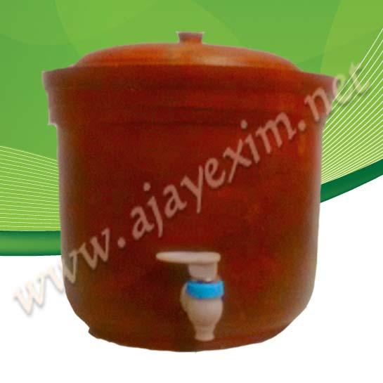 Clay Water pot with tap