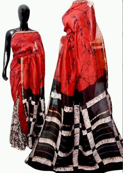 Batik Print Designer Sarees
