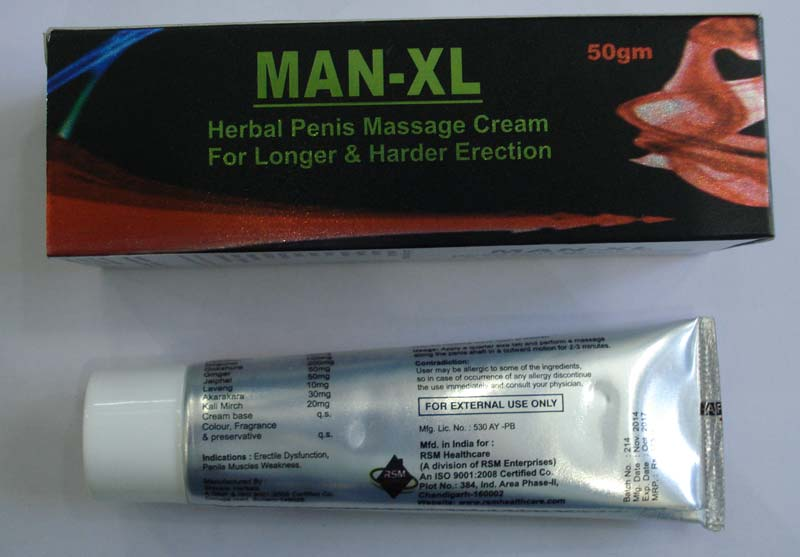 Man-XL Massage Cream