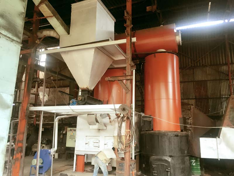Vertical 4 Pass Thermic Fluid Heater