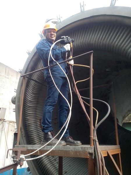 Stack Tube Coating in Steel Plant