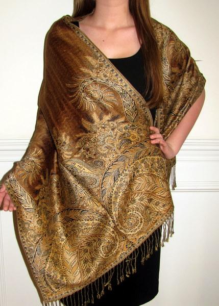 Designer Silk Pashmina Shawl 01