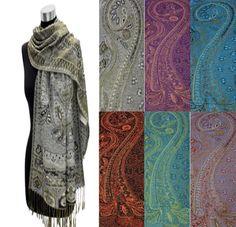 Designer Silk Pashmina Shawl 02