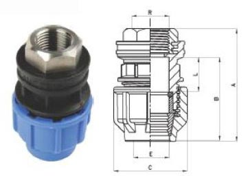 Female Threaded Adator with Metal Insert