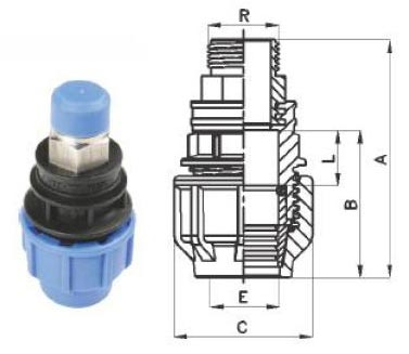 Male Threaded Adator with Metal Insert
