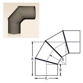 PE Buttweld Pipe Fabricated Bend (90 Degree)