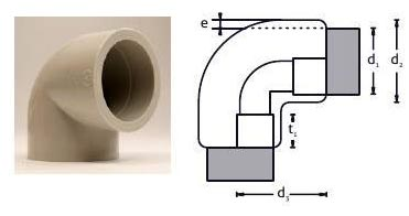 PP Socket Fusion Pipe Molded Elbow (90 Degree)