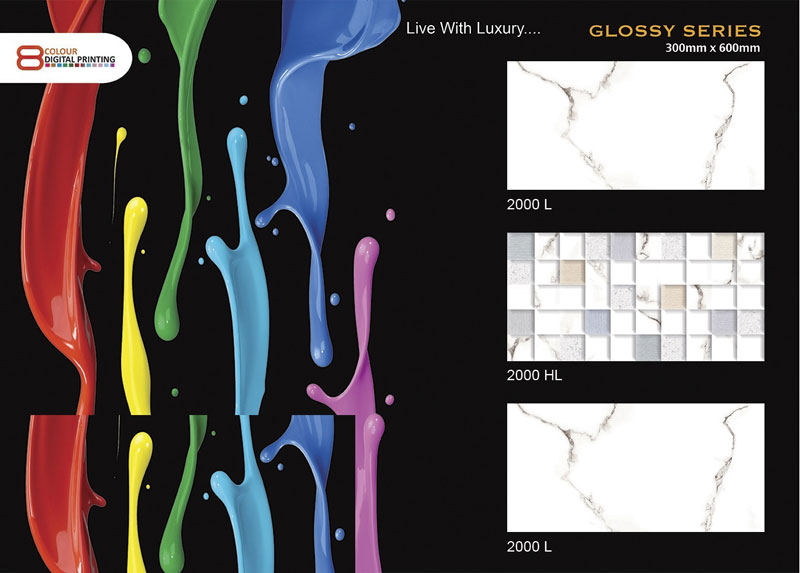 Glossy Series Wall Tiles (300x600mm)