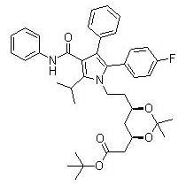 Tert-Butyl (4R,6R)-2-[[[6-(2-4-Fluorophenyl)-5-Isopropyl-3-Phenyl-4-(Phenylcarbamoyl) Pyrrol-1-yl]Ethyl]-2,2-Dimethyl-1,3-Dioxan-4-yl]Acetate (ATV -1)