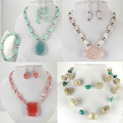 Semi Precious Gemstone Necklace Set