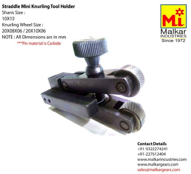 Mini Straddle Knurling Tool Holder